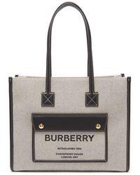 Burberry ロゴ コットンキャンバス トートバッグ - マルチカラー