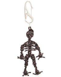 Alexander McQueen - Braided Cord Skeleton Keyring - Lyst