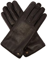 Gucci - Bee Embellished Grained Leather Gloves - Lyst