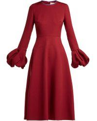 ROKSANDA - Aylin Bell Sleeve Cady Dress - Lyst