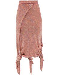 Loewe スパンコール ノット ニットスカート - マルチカラー