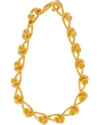 Loewe Drop-chain Choker Necklace - Metallic