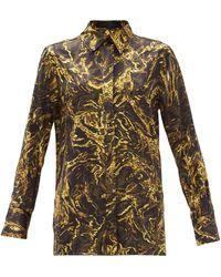 Proenza Schouler Abstract-print Silk-satin Shirt - Multicolour