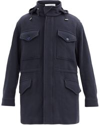 Gabriela Hearst Duckworth Detachable-vest Cashmere Hooded Jacket - Blue