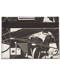 Prada - Comic-print Cardholder - Lyst