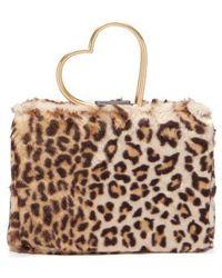 Shrimps - Nancy Leopard-print Faux-fur Bag - Lyst