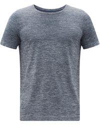 Asics レース シームレスtシャツ - ブルー