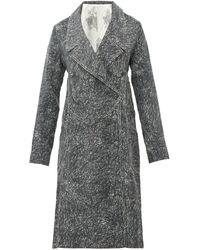 Charles Jeffrey LOVERBOY スクリブル サイドプリーツ コートドレス - マルチカラー