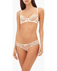 Agent Provocateur Lindie Floral-embroidered Tulle Hipster Briefs - White