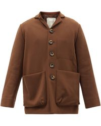 Toogood The Photographer Patch-pocket Wool-blend Jacket - Brown