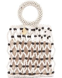 Rosantica By Michela Panero Jules Beaded Clutch Bag - Multicolour