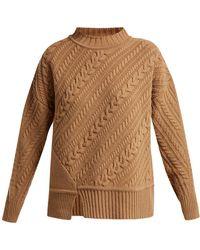 Weekend by Maxmara - Diagonal Knitted Virgin Wool Sweater - Lyst