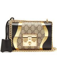 813a9c556ae4 Gucci - Padlock Gg Supreme Leather Shoulder Bag - Lyst