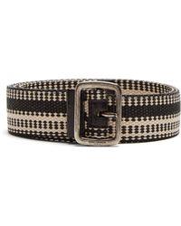 Saint Laurent | Leather-trimmed Belt | Lyst