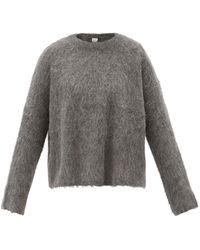 Totême Round-neck Alpaca-blend Jumper - Grey