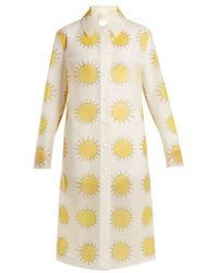 Christopher Kane - Sun-print Frosted Rubberised Coat - Lyst