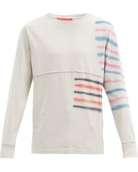 Eckhaus Latta Tie-dyed Cotton-jersey Long-sleeved T-shirt - Grey