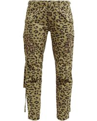 Maharishi Leopard And Camo-print Cotton-twill Cargo Pants - Green