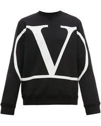 Valentino Go Logo Crewneck Pullover - Black