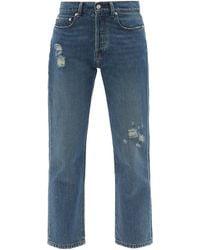 Officine Generale Naomi Mid-rise Straight-leg Jeans - Blue