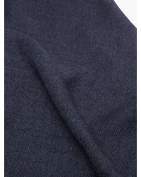 Brunello Cucinelli タッセル カシミアブレンドスカーフ - ブルー