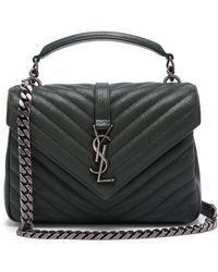 Saint Laurent - Collège Medium Quilted Leather Cross Body Bag - Lyst