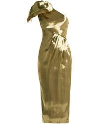 Maria Lucia Hohan - Alya One Shoulder Silk Dress - Lyst
