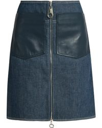 Edun - Patch-pocket Denim Skirt - Lyst