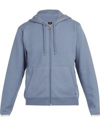 Dunhill - Hooded Cotton And Cashmere Blend Zip Sweatshirt - Lyst
