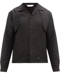 Sasquatchfabrix. レイヤード ツートーンポプリンシャツ - マルチカラー