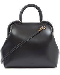 Jil Sander - Logo-debossed Medium Top-handle Leather Handbag - Lyst