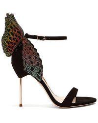 Sophia Webster - Evangeline Butterfly-wing Suede Sandals - Lyst