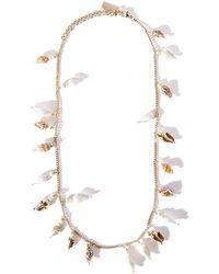 Saint Laurent Shell-charm Necklace - Metallic