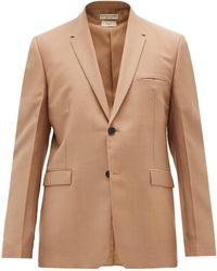 Bottega Veneta モヘアブレンド シングルジャケット - ナチュラル