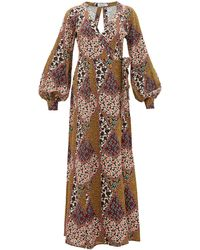 The Upside Kate Poppy Clash-print Canvas Wrap Dress - Multicolour
