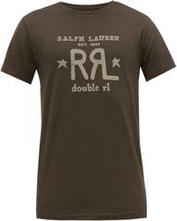 RRL ダブル ロゴプリント コットンtシャツ - マルチカラー