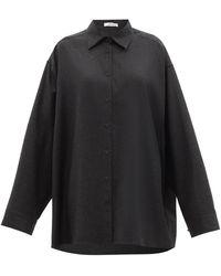 The Row キャロライン オーバーサイズ フランネルシャツ - グレー
