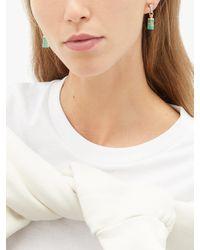 Jade Jagger Diamond, Emerald & 18kt Gold Drop Earrings - Metallic