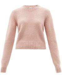 Raey Crew-neck Alpaca-blend Textured Sweater - Pink