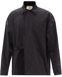 Toogood The Glassblower Tie-side Cotton-blend Jacket - Black