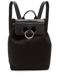 JW Anderson - Pierce Canvas And Leather Backpack - Lyst