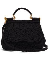 Dolce & Gabbana シシリー ミディアム レースバッグ - ブラック