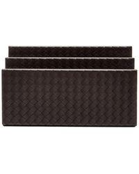 Bottega Veneta - Intrecciato-leather Letter Holder - Lyst