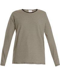 Eve Denim Alexa Striped Jersey T Shirt - Gray