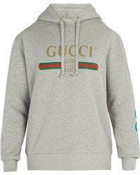 ac590255ab0 Gucci - Dragon And Logo Hooded Sweatshirt - Lyst