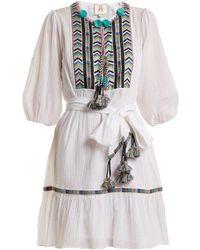 Figue - Svana Pom Pom Dress - Lyst