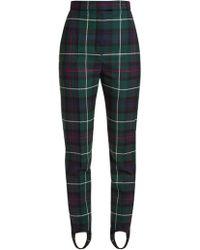 Burberry - Tartan-checked Slim-leg Wool-twill Trousers - Lyst