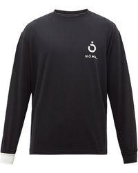 Noma T.D Logo And Barcode-print Jersey T-shirt - Black