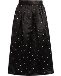Jupe by Jackie - Gala Polka-dot Embroidered Satin Skirt - Lyst