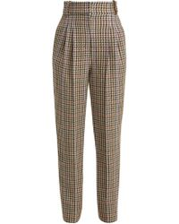 Emilia Wickstead - Kia Tapered Houndstooth Trousers - Lyst